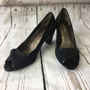 Naturalizer black peep toe pumps. Size 7 1/2